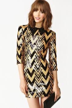 Zig Zag Sequin Dress