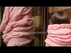 Шарф снуд. Вязаный шарф хомут, труба. Вязание спицами. Knitting(Hobby) - YouTube