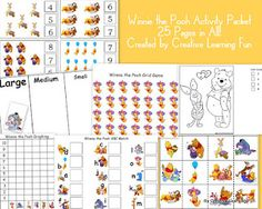 Winnie the Pooh Printables - FREE from Creative Learning Fun Heaven!!!!!!!!!!!!