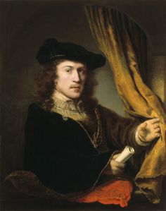 self-portrait by Ferdinand Bol .The Springfield Museum of Fine Arts' collection