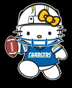 Hello Kitty San Diego Chargers Sticker Dope Football by ideenr, $2.95