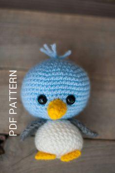 PATTERN: Crochet bird pattern - amigurumi bird - woodland creature - baby bird…