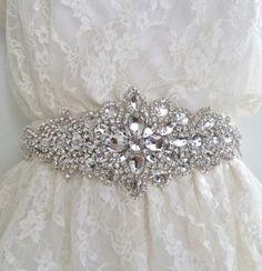 Diana Delux II Rhinestone Bridal Sash, Loverlydo.com
