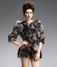 qd29249 fabrika doğrudan satış düşük fiyat tilki kürk ceket