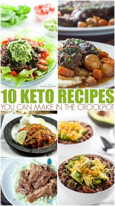 Ten crockpot Keto dinner recipes to help you eat right with minimal fuss. Fire up the slow cooker and dinner is handled! Low Carb Crockpot Chicken, Stew Chicken Recipe, Keto Crockpot Recipes, Slow Cooker Recipes, Healthy Recipes, Delicious Recipes, Crockpot Veggies, Healthy Foods, Healthy Eating