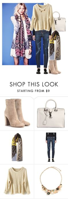 """Lennox Thornberry"" by ashleyr0sexo ❤ liked on Polyvore featuring Gianvito Rossi, Yves Saint Laurent, Free People, Peter Pilotto, Dsquared2, Accessorize, women's clothing, women, female and woman"