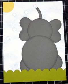 Stampin Up Punch Art Ideas | Jun 2012 – SUO Punch Art Elephant CF by CrysCraft – Cards and ...