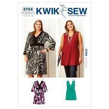 498262848c39b3 Kwik Sew 3754 Plus Size Sewing Pattern Womens Dress   Tunic Empire Waist