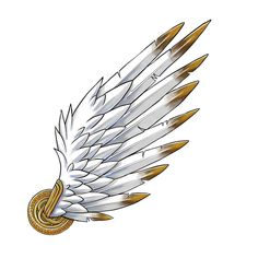 Hermes's wings.