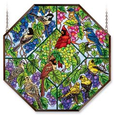 Amia 5934 Window Decor Panel, Heard On The Grapevine Bird Design, Hand-painted Glass, 22-Inch W by 22-Inch L Amia http://www.amazon.com/dp/B005DYMJ2A/ref=cm_sw_r_pi_dp_XtUqub0TJBN6T