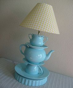 Perfect Tea Party Centerpiece... ambient lighting for a relaxing afternoon of tea!