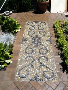 Pavers Patios With Mosaics | Baroque Curves | Renaissance Mosaic Inspirations