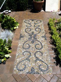 Pavers Patios With Mosaics | Baroque Curves | Renaissance Mosaic Inspirations