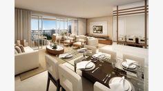 Living do apto 122 m²