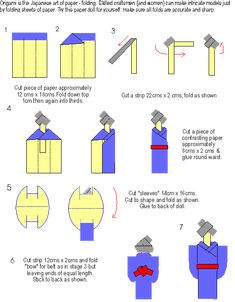 Guiding UK - Crafts : origami Japanese Doll