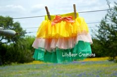 Layered Tutu, Easter Tutu  by LillyBearCreations on Etsy