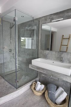 #bathroom #design #concrete