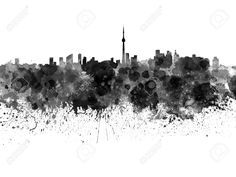 Toronto Skyscrapers Black and White HD desktop wallpaper City Skyline Wallpaper, Raptors Wallpaper, Johannesburg City, Toronto Skyline, Clouds, Watercolor, Black And White, Artwork, Hd Desktop