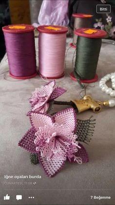 Needle Tatting, Tatting Lace, Needle Lace, Beaded Flowers, Crochet Flowers, Fabric Flowers, Flower Making, Lace Making, Whatsoever Things Are Lovely