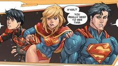 superboy, supergirl and superman the new 52 the super family