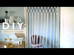 Un rideau en macramé - DIY Westwing France Macrame Tutorial, Diy Tutorial, Rideaux Boho, Van Curtains, Craft Tutorials, Diy Projects, Macrame Curtain, Wall Design, Decoration