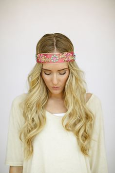 Bohemian Headbands BEADED Jeweled Indian Ribbon Head Band Head Wrap Women's Fashion Hair Accessories Hair Band (HB-IND06) 26