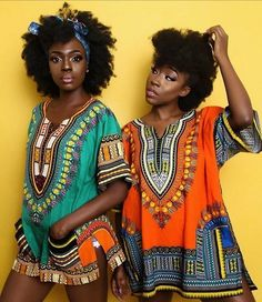 Beverly Osu And Beverly Naya Twin Beautifully In Matching Dashiki Attires African Girl, African Beauty, African Theme, African Inspired Fashion, Africa Fashion, African Attire, African Wear, African Dress, Moda Afro