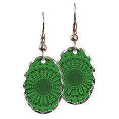 Shades of Green Mandala Earring on CafePress.com