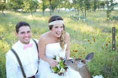 Sweet! - Deer Wedding Crashers  |  The Frosted Petticoat Blog | CHECK OUT MORE IDEAS AT WEDDINGPINS.NET | #weddings #rustic #rusticwedding #rusticweddings #weddingplanning #coolideas #events #forweddings #vintage #romance #beauty #planners #weddingdecor #vintagewedding #eventplanners #weddingornaments #weddingcake #brides #grooms #weddinginvitations