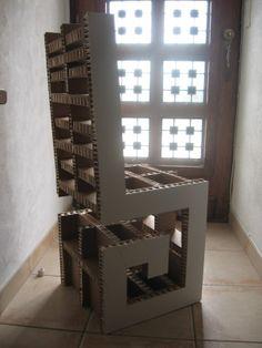 Siège design en carton - meubles en carton marie krtonne