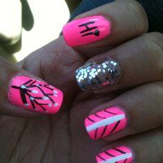 Pink nail design!
