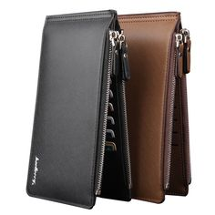 b4756e6b0b76 Baellerry New Limited PU Leather Wallet Slim Men Wallets Portefeuille Homme  Card Holder Male Cuzdan Rfid wallet Black Long Purse