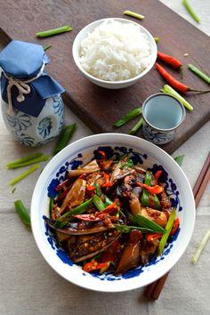 Chinese eggplant with garlic sauce, a tasty version made without deep frying