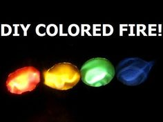 DIY Rainbow of Fire... Awesome Colored Fire Experiment