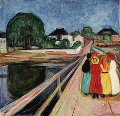 Edvard Munch, Pikene på broen (Girls on the Bridge), 1902, oil on canvas. Estimate: in excess of $50 million; realized: TK. COURTESY SOTHEBY'S