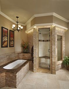pictures of spa bathrooms | These homeowners wanted to re-create some of ther favorite features ...