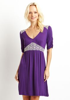 Amethyst Lace overlay dress by S.H.E