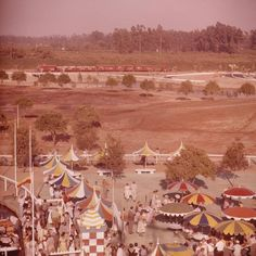 Early Development - Disneyland USA - 1955 - Wasn't much to look at then, but it grew into a beauty.