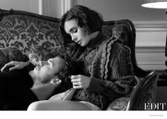 Lily Collins Gets Romantic with Sam Claflin for The Edit