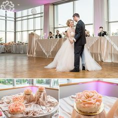 Endrit + Blerina | Willistead Manor and St. Clair College Centre for the Arts » Manifesto Photography #bride #cake #lazaro #pink #blush #stclaircentre #windsor #wedding #photographer #rose