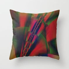 multicolored abstract no. 9 Throw Pillow by Christine baessler - $20.00