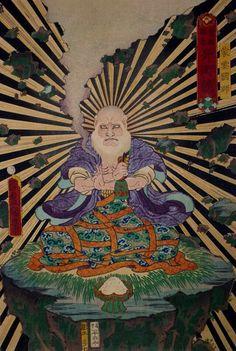 "japanesejapan: ""Utagawa Kunisada. The Magician Mo'un Kokushi. 1863. """