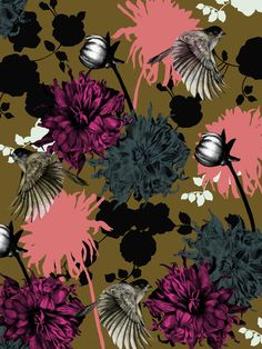 Viola Brun Designs http://society6.com/ViolaBrun/Flower-Bomb-mtx_Print