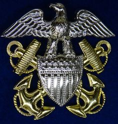 U.S. Navy Officers Visor Hat Eagle