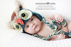 ($) Mystic Owl Hat (5 Sizes Newborn to Adult), crochet pattern for purchase