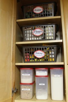 Organizing Baking Supplies - AFTER picture.