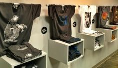gift shop tee shirt display - Google Search
