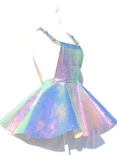 Renee Snakeskin Holographic Skirt Jumpsuit - Renee Snakeskin Holographic Skirt Jumpsuit Source by - Cute Girl Outfits, Cute Casual Outfits, Pretty Outfits, Pretty Dresses, Mini Dresses, Ball Dresses, Kawaii Fashion, Cute Fashion, Girl Fashion