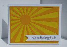 Frantic Stamper Happenings - Super fast Sunburst card by Kathy Berger