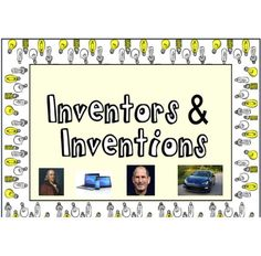 This is an OUTSTANDING unit on inventions and inventors. It is a 24+ page reosurce with detailed lesson plans, technology integration links, and student worksheets and handouts (including a parent letter and guidelines on how to set up the end of unit Invention Convention). Download the preview file to see a sample of both the lesson plans and some student worksheets.